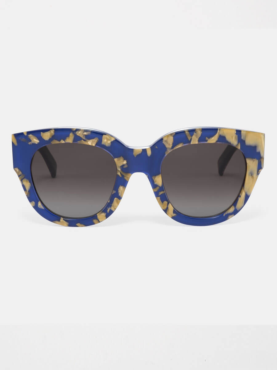 3a02223aff Monokel Cleo Blue Marble Eyewear Sunglasses