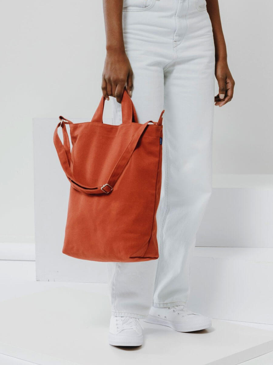 Baggu Rust Cotton Tote Bag